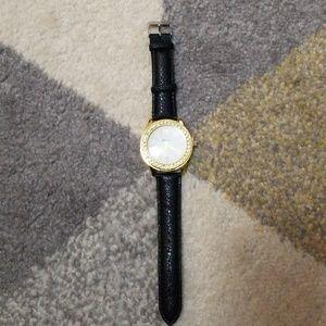 Black Jeweled Watch NWOT